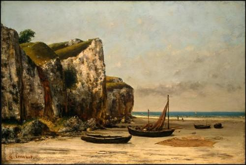 Qui a peint La falaise d'Etretat après l'orage ?
