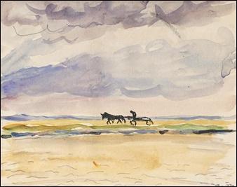 Qui a peint La Charette sous l'orage ?