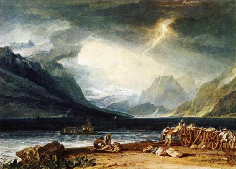 Qui a peint Orage sur le lac de Thun ?