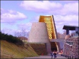 Auvergne. Pierre de Volvic. Parc de loisirs 'Vulcania' pour un voyage au centre de la Terre !