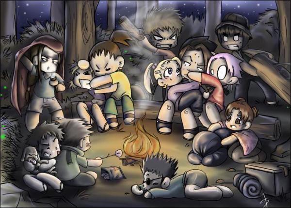 Qui ne s'occupe de personne en grillant des marshmallows ?