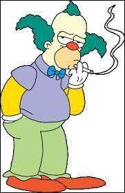 A laquelle de ces choses Krusty n'est-il pas dépendant ?