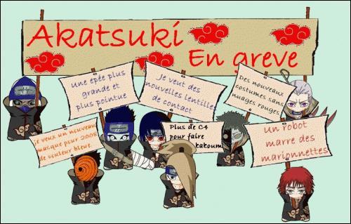 """L'Akatsuki est en grève ! Qui demande """"Plus de C4 pour faire baboum"""" ?"""