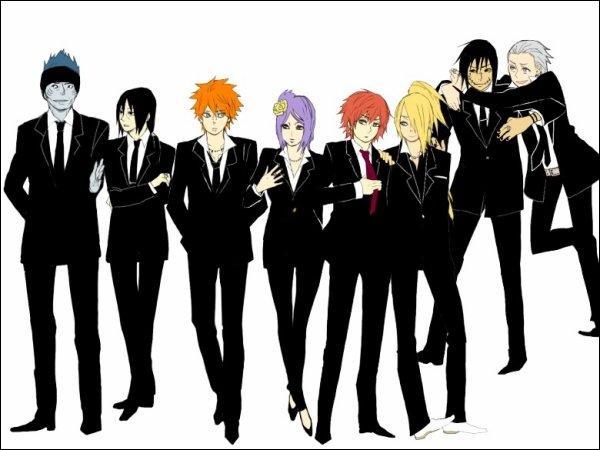 Qui est le seul à avoir une cravate rouge ?