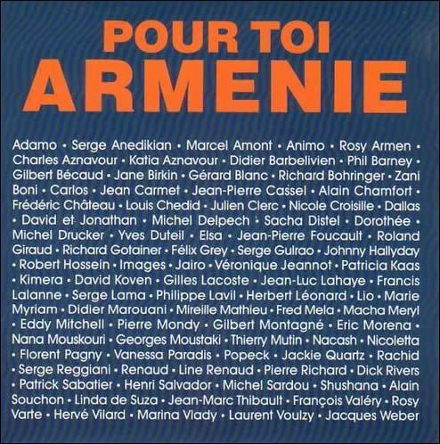 Beaucoup de causes ont fait la une du top 50 mais qui a écrit la chanson 'Pour toi Arménie' en 1989