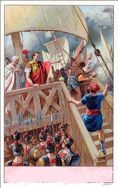En 31 avant J.-C. - Quelle est cette bataille navale qui eut lieu aux abords du golfe Ambracique ? Elle mit aux prises les deux triumvirs qui restaient en lice pour le pouvoir suprême : Octave et Marc-Antoine.
