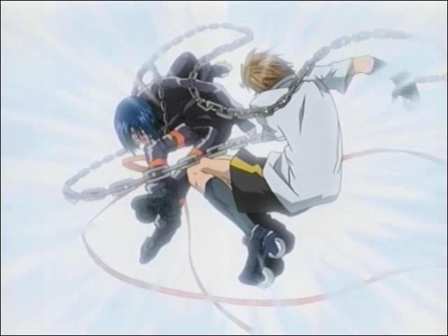Changeons d'univers. Dans le manga 'Air Gear', lors du combat contre les Behemoth, qui doit combattre contre Akira ?