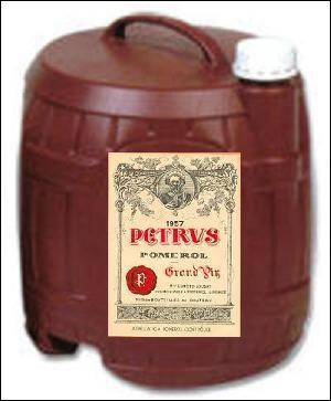 Nous avons bientôt fini le cubi ! Hic ! C'est une idée reçue que de penser que les grands vins ne se trouvent pas en cubis ! D'où vient ce Petrus ?