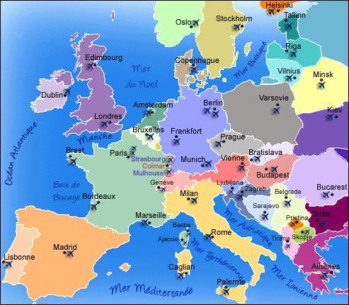 carte europe jeux capitales