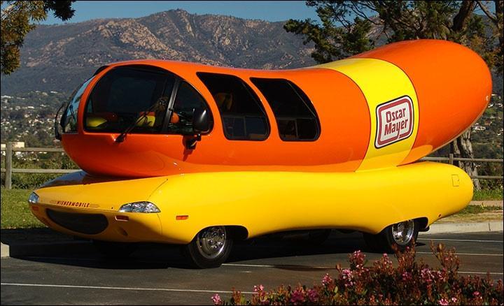 Banana And Hot Dog Car