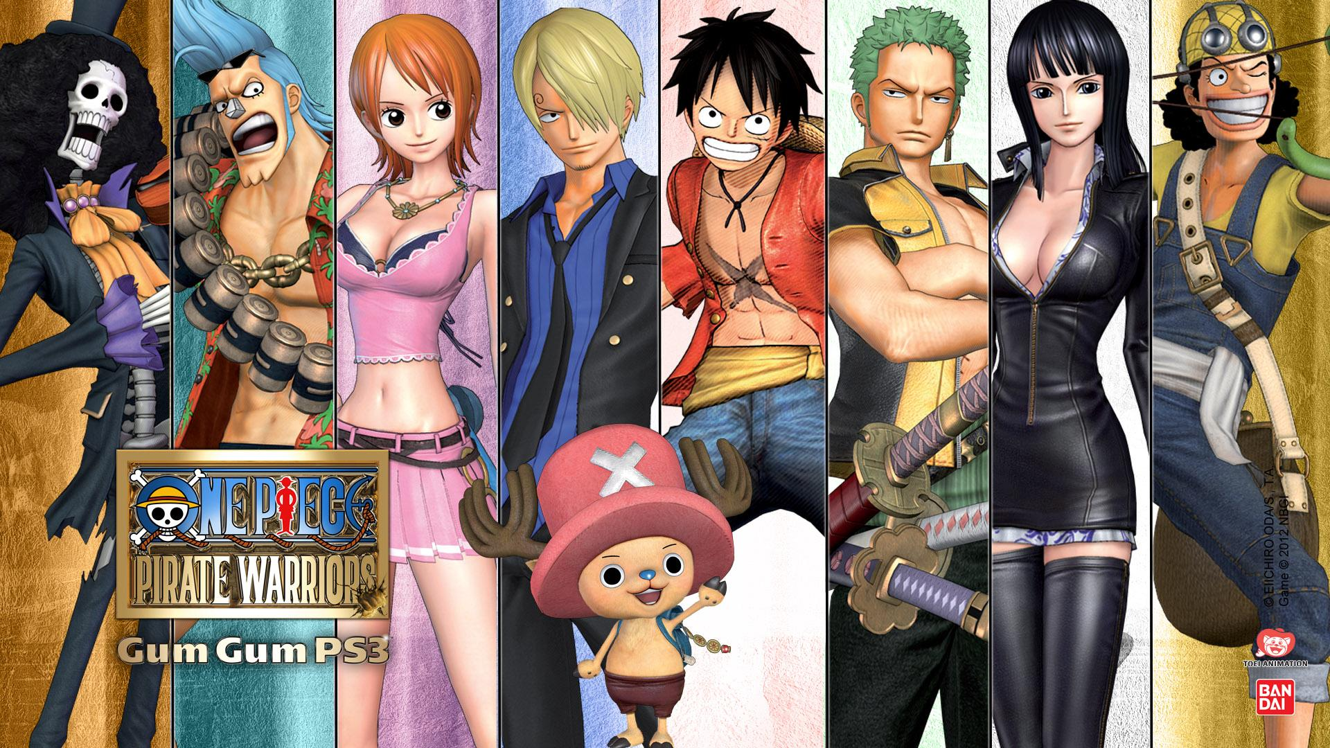 Personnages de One Piece et de Mew Mew Power