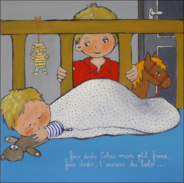 """Dans la chanson enfantine """"Fais dodo Colas mon p'tit frère"""", où est Papa ?"""
