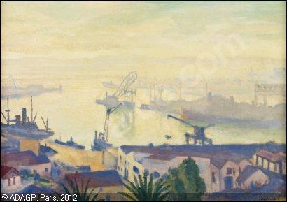 Qui a peint Le port d'Alger par temps brumeux ?