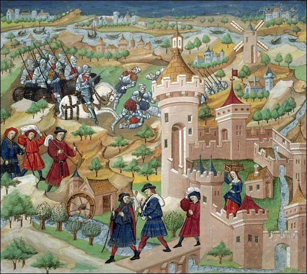 En particulier, il devait travailler quelques jours par an dans les champs dont la production était destinée exclusivement et intégralement au seigneur. Comment s'appelaient ces champs situés à proximité du château fort ?