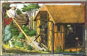 Les paysans habitaient dans des hameaux proches du château fort de la seigneurie. Ils survivaient dans des masures aux murs de bois ou de torchis. Cette habitation misérable était recouverte de chaume. Quel est ce matériau ?