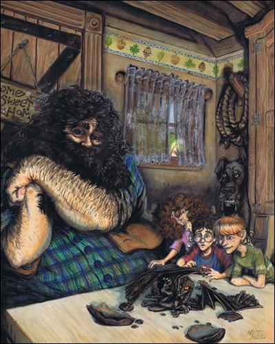"""De quel tome est extraite cette citation ? """"- J'ai décidé de l'appeler Norbert, dit Hagrid en regardant le dragon avec des yeux embués. Il me connaît bien, maintenant, regardez. Norbert ! Norbert ! Où est maman ? - Il a perdu la boule, murmura Ron à l'oreille de Harry."""""""