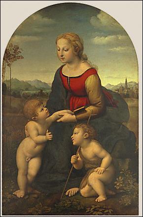 """Artiste précoce. À la demande du Pape Jules II, il peint des œuvres au Vatican. Il est l'auteur de nombreuses toiles intitulées """"Vierge à l'enfant"""", mais de qui s'agit-il ?"""