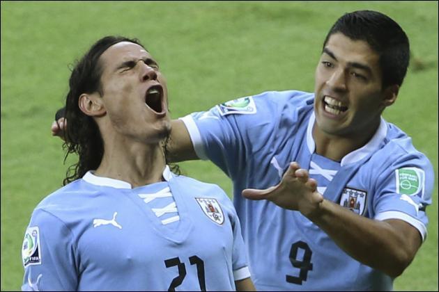 Comment se nomment ces deux stars de l'équipe de l'Uruguay ?