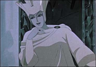 Comment est nommée cette reine (dont l'image-ci provient d'un film d'animation russe) portant le titre d'un célèbre conte d'Andersen ainsi que d'une adaptation récente Disney bien que celle-ci, contrairement à sa prédécesseure russe, ne respecte pas du tout le conte d'origine ?