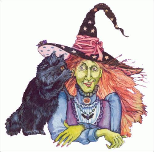 Étonné, gâteau, vieille sorcière.
