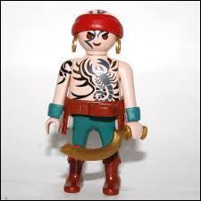 Quel est l'animal représenté sur le torse de cette figurine Playmobil ?