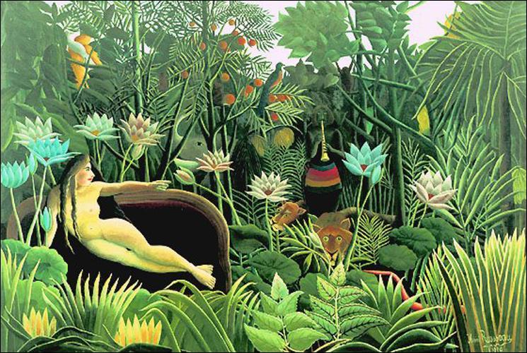 Quel artiste de l'art naïf, surnommé  le douanier , a peint  Le rêve  ?