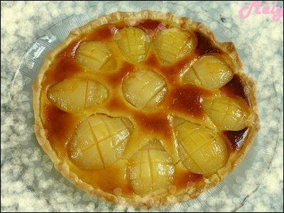Nous pouvons déguster une vraie tarte Bourdaloue aux :