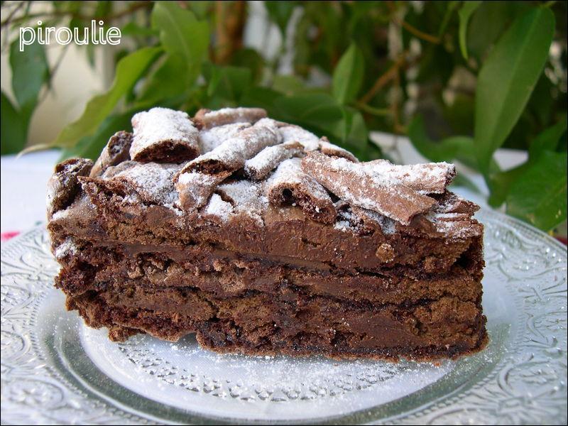 Une jolie portion de gâteau va terminer le repas :