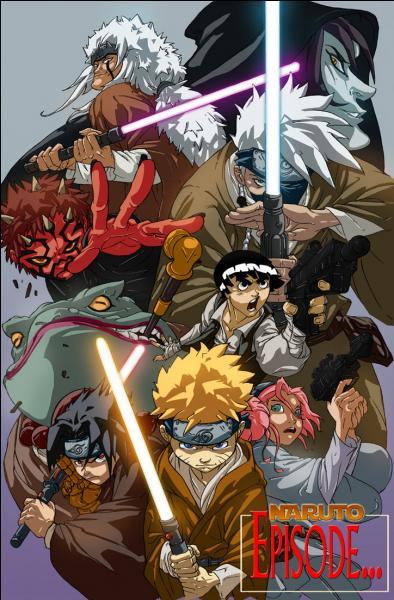 Pour quel film les personnages de Naruto font-ils de la pub ?