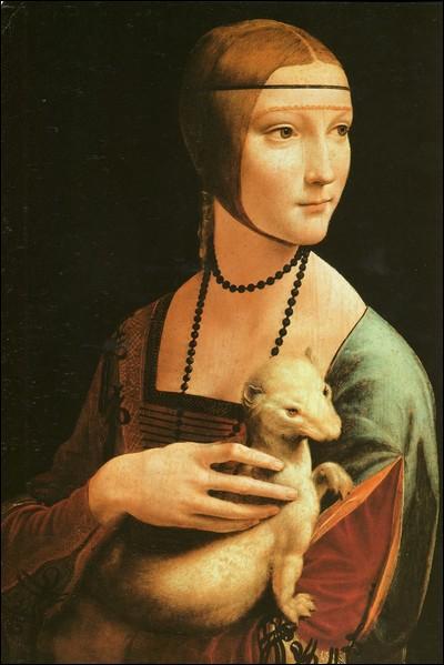"""A quel grand peintre italien de la Renaissance doit-on ce portrait intitulé """"La Dame à l'hermine"""" ?"""