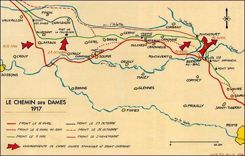 Dans quel département de Picardie se situe Le Chemin des Dames, tristement célèbre pour avoir été le théâtre de batailles meurtrières pendant la guerre 1914-18 ?