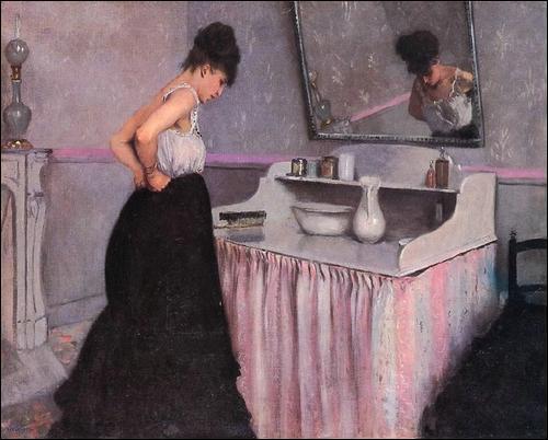 Qui a peint Femme à sa toilette ?