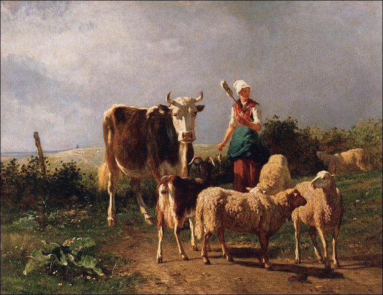 Qui a peint Le retour du marché ?
