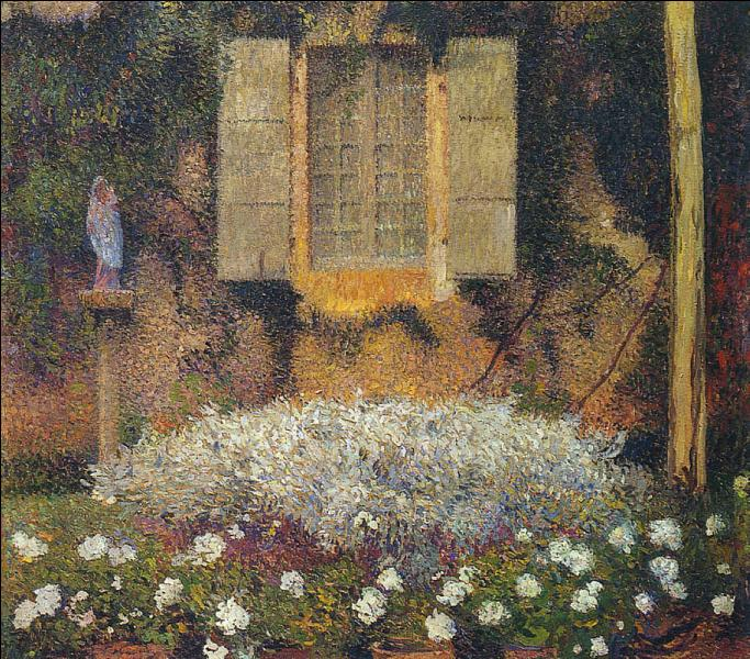 Qui a peint La fenêtre dans le jardin ?
