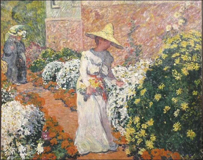 Qui a peint Jeune femme dans un jardin à Anthéor ?