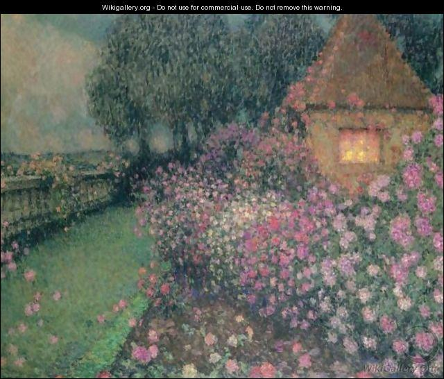 Qui a peint Le pavillon dans la roseraie ?