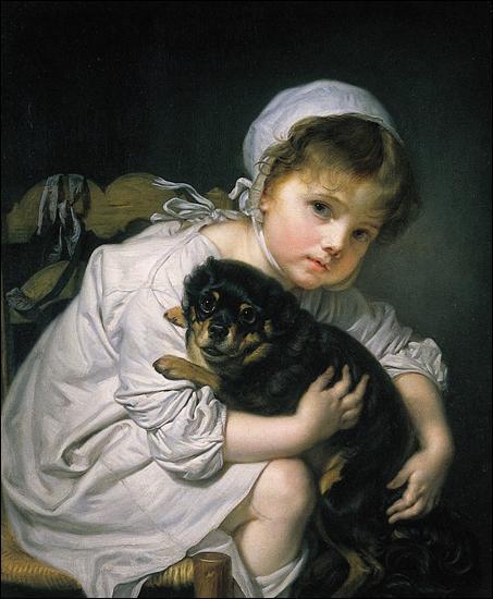 Qui a peint la jeune fille au chien ?