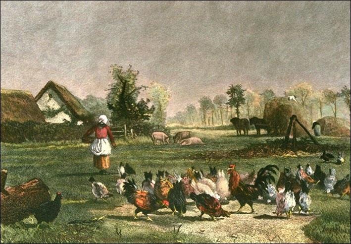 Qui a peint La fermière et ses poules ?