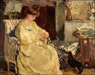 Qui a peint Femme avec chien et chat ?