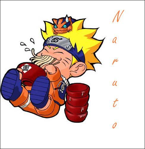 Le Nindô de Naruto est de manger le plus de ramens .