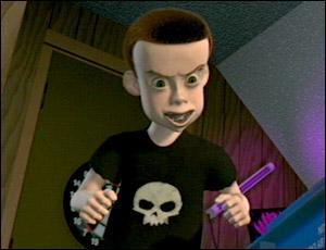 Retrouvez les méchants de la trilogie Toy Story. Lequel est sur la photo ?