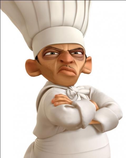 Qui est ce chef cuisinier ? De quel film d'animation vient-il ?