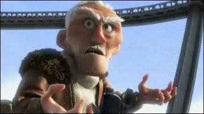 Comment s'appelle ce vieil explorateur cupide et fou ? De quel film d'animation jugé très émouvant et drôle vient-il ?