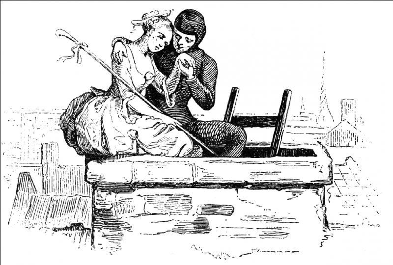 1845. Il l'aida à s'échapper de la chambre en passant par la cheminée !  N'hésitez pas à agrandir les photos !