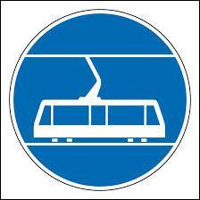 Que signifie ce panneau rond à fond bleu et au rebord blanc ?