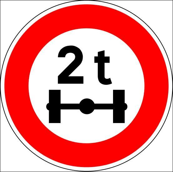 Que signifie ce panneau rond à fond blanc et à rebord rouge ?