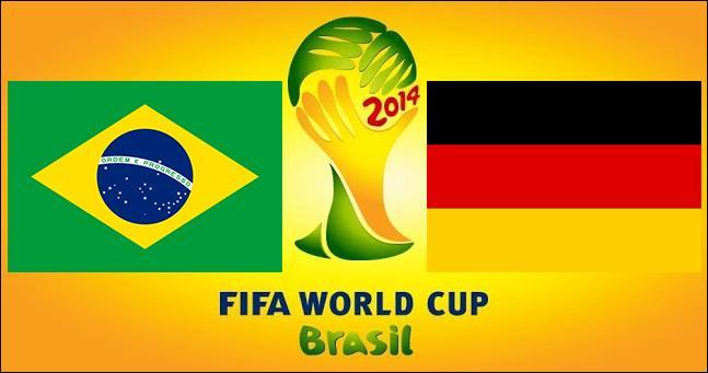 Le match Brésil-Allemagne s'est clôturé sur un score de :