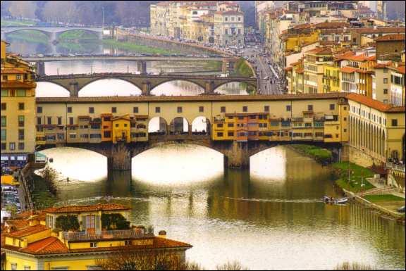 Dans laquelle de ces villes se trouve le Ponte Vecchio ?