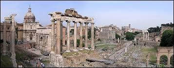 Continuons la visite par le centre de Rome au moment de l'Antiquité, voici le :