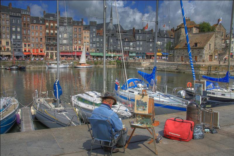 Normandie. Vieux port. Pont de Normandie. Maisons Satie. Impressionnistes !